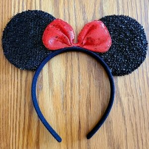 """🥰 🖤 NWOT‼️ Handmade """"Minnie"""" Mouse Sequin Ears"""